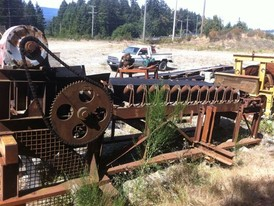 Used 36 in. x 20 ft. Belt Feeder. 10 Ft. High Overall. Complete with Steel Hopper.