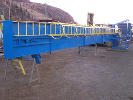 50ft Bucket Elevator, chain type, C/W 7in x 4in x 6in deep buckets.Unit Supplied Refurbished and Shortened to 35 ft.