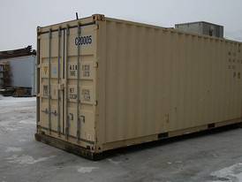 Used Refridgeration 20 ft. Container. Ideal for Camp Food Storage. Cooling Area complete with Shelves & Lighting.