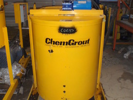 Unused Surplus Chemgrout Mixer Tank and Pump Package. 1 - Chemgrout Twin Mixer and Tank. 404 Gallon Capacity. 2 Mixers. 3 in. Dishcharge on each sides. 1 - Chemgrout Mixer Tank with Pump.  25 HP Motor Driving 4 in. x 3 in. Pump. Can be Sold Separately.