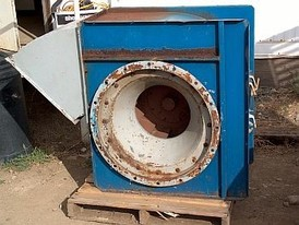 Chicago 22.5 inch dia. centrifugal blower. 15 in. inlet, 19.5 in. X 22 in. discharge.