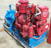 Used Detroit Diesel Fire Pump. 5 x 4 x 16 in. Impeller. 250 GPM. 100 PSI.