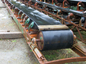 Used Channel Conveyor. 24 in. x 35 ft. Long. c/w Steel Head & Tail Pulley.