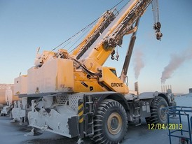Used Grove Mobile Crane. 50 Ton Capability. Model: RT-650E