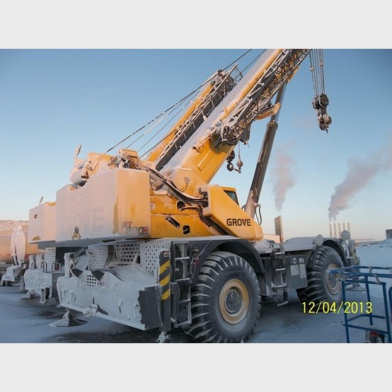 Used Grove Cranes : Used grove mobile crane ton capability model rt e