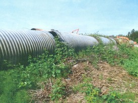 Used Galvanized Culvert. 6 ft. dia. 7 - 20 ft. Lengths.