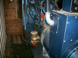 Cummins 75KW, 1200 RPM continuous duty. C/w Lima 208-120, 3-phase generator.