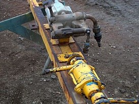 Used Atlas Copco Drill Slide & Boom.  Approximately 6 ft Long.