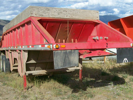 Decap Belly Dump Trailer. 8 Ft.W x 32 Ft.L x 8 Ft.H. Air Operated Clam Gates.