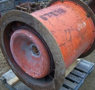 Used Joy Electric Ventilation Fans. 34 inch dia., 26 in hub, 40hp, 1770 rpm, 575 volt.