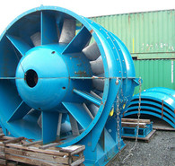 Used Electric Ventilation Fans. 112 in. Dia Mine Fan.