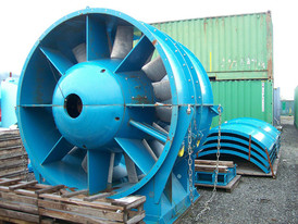 Used Electric Ventilation Fan. 112 in. Dia Mine Fan.