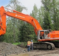 Used Hitachi EX700 Excavator. New Motor. Located in British Columbia, Canada.