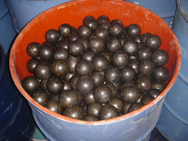 Grinding Media 15 Tons of 3.5 inch to 4 inch Steel Grinding Balls