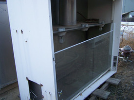 Used Assay & Lab Equipment. Labconco Fume Hood. 5ft wide x 2ft deep.  Comes with sliding glass front.