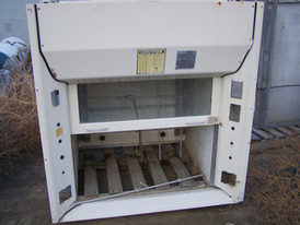 Used Assay & Lab Equipment. TSS Fume Hood. 36 in. wide x 28 in. deep.  Comes with sliding glass front.