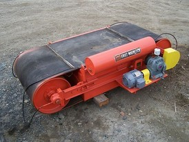 Eriez 44in wide X 9.5ft long cross belt magnet. 3hp belt drive motor. SOLD. SUPPLIED REFURBISHED AND READY TO INSTALL.