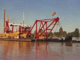 Ellicott 24 in. Cutter Suction Dredge, Cat Power, Complete with Components. PRESENTLY OFF MARKET UNTIL FURTHER NOTICE