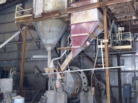 7 ft. Dia. x 4 ft. Hardinge Conical Mill. Complete with Air Sweep System.