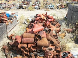 Used Pipe Fittings. 4 in. to 6 in. Grooved Fittings, Clamps, Elbows, Ts, Ys & Reducers