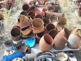 Used Pipe Fittings. 8 in. to 12 in. Grooved Fittings, Clamps, Elbows, Ts, Ys & Reducers.