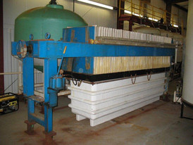 36 in. X 36 in. Poly Filter Press. 51 Plates & 49 Frames