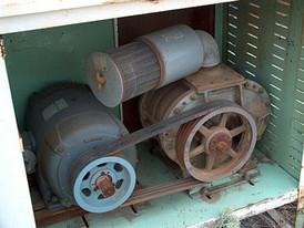 ROOTS Model 710 AF horizontal blower. With Westinghouse 30hp motor.