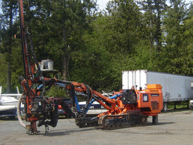 Used Tamrock Dino 500 Hydraulic Quarry Drill. Manufactured in 2000.
