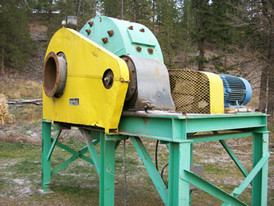 Hardinge Sag Mill.6 ft. Dia. x 2 ft. Long.25 HP Motor, Falk Reducer.Grate Discharge. Mounted On Stand.