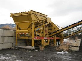 Used CEC Portable Screen. 6 ft. x 16 ft. - 3 Deck.  Incline Style. Diesel Driven with Deutz Engine, 200 HRS.