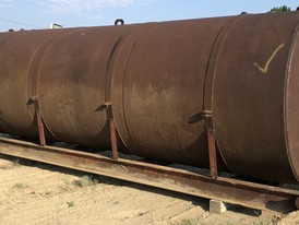 6,500 Gallon Skid Mounted Steel Tank