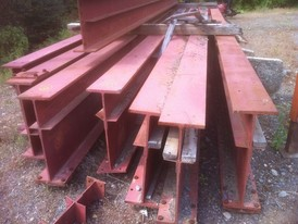 Used Steel. 30 in. x 34.3 ft. Long I-Beam.