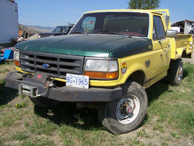 93 Ford Diesel F250 4X4. With spare tire, aluminum lock up box and Warn winch.