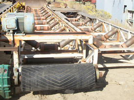 Used Channel Conveyor. 36 in. x 80 ft. Long. 15 HP Motor.