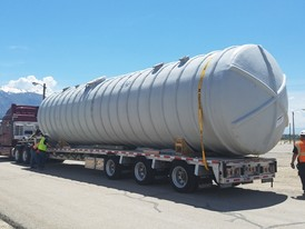 25,000 Gallon New Fiberglass Water Tank