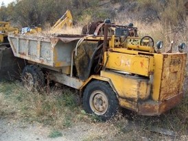 Used Underground Trucks. 4 Ton.  Ford Diesel Engines.