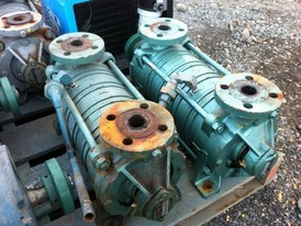 """2 Available"" Siemen & Hinsch 1.25 in. Vacuum Pump."