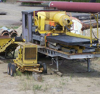 Gold Mining Equipment. Placer/Tailings Pilot Plant. Trommel and Ball Mill, plus Full Size Gold Concentrating Table. All on 35 ft. Highboy Trailer. Complete with feed conveyor and generator