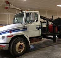 2008 Zinex A5 Diamond Core Drill mounted on Freightliner Diesel Truck
