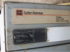 Cutler Hammer MCC Section. 480 Volt. 600 Amp Vertical and Horizontal Boss