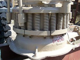 Used Symons Cone Crusher. 2 ft. Shorthead. Set of New Liners.