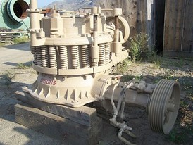 Used Symons Cone Crusher. 2 ft. Standard. Lube System & Electric Motor.
