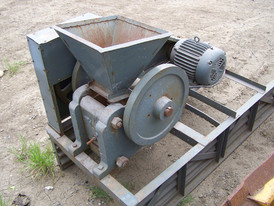 Used Lab Jaw Crusher. 3 in. x 8 in. Babbit Bearing Design with Heavy Duty Casting Iron. Mounted on Steel Frame.