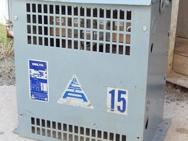 15 KVA 600/120-240 Volt Delta Transformer for Sale
