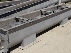 15 in. dia. x 15 ft. long Stainless Steel Auger and Trough for Sale