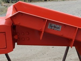 Syntron Vibrating Pan Feeder, 42in. wide X 60in. long for sale