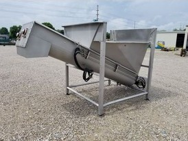 16in Dia. x 10ft. Long Stainless Friensens Twin Screw Conveyor