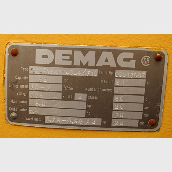 Demag Overhead Bridge Crane Supplier Worldwide Used