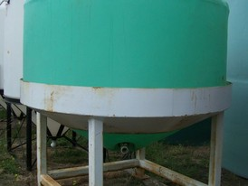 Conical 1500 Gallon Polyethylene Tank