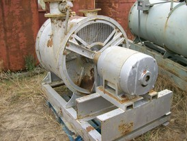 Spencer High Pressure Blower. Driven by 40 HP Motor. Skid Mounted.